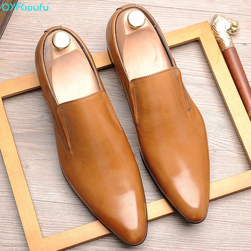 Masculino de Couro Luxuoso para Negócios Casuais e Escritório Pijama Legítimo Sapato Formal Masculino Primavera Verão
