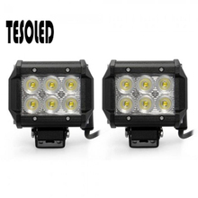 цена на LED Spotlight Offroad Truck Tractor Trailer 18W Spot Beam LED Work Light Lamp Jeep/SUV ATV/Off-road Truck Work Light 8.15