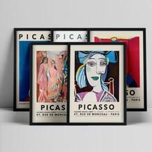 Pintura abstrata do vintage pablo picasso exposição posters e impressões da lona museu galeria moderna arte da parede imagem casa decoração
