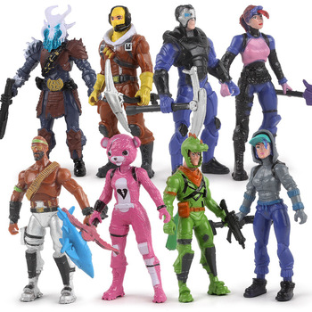 12pcs Fortnite Toys Game Action Figure model PVC Dolls casquette Fortress Night toy Decoration Collection Children Gifts 11 play arts kai pa marcus fenix game gears of war 3 war machine harley quinn joker pvc action figure collection model toy