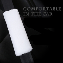 цена на 2Pcs/Set Car Seat Belt Cover Soft Plush Shoulder Mat Comfortable Driving Universal Car Seat Belt Shoulder    Safety Belt For Car
