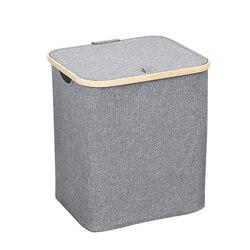Botique kosz do przechowywania z pokrywką składany kosz na pranie kosz do przechowywania zabawek salon sypialnia łazienka|Kosze na pranie|   -