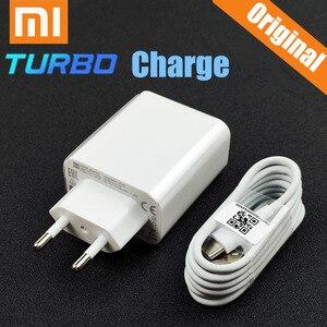 Image 1 - Xiaomi chargeur rapide 27W Original EU QC 4.0 turbo adaptateur de charge rapide câble USB type C pour mi 9 se 9t CC9 rouge mi note 7 8 K20 K30