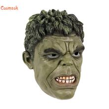 Cosmask Halloween Super Hero Hulk Adult Latex Mask Cosplay Costumes Masks Full Face Helmet For Halloween Party