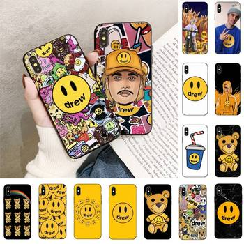 Luxury brand Drew House Justin Bieber Phone Case For iPhone 5 5s SE 11 8 7 6 6S Plus X XS MAX 5 5S XR 11 Pro max SE 2020 image