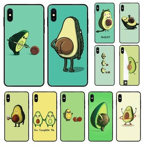 Lovely Cute Cartoon Avocado soft cover bumper black Phone case For iphone 4 4s 5 5S SE 5C 6 6S 7 8 plus X XS XR 11 PRO MAX 2020
