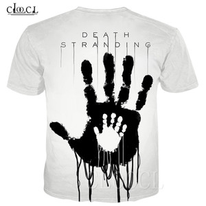 Image 2 - Populaire Game Death Stranding Zomer T shirt Voor Mannen Vrouwen 3D Print Anime Zwart Wit T shirt Toevallige Plus Size Hiphop streetwear