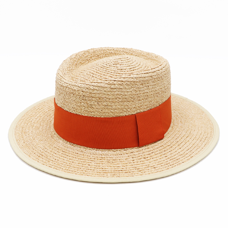 DANA XU Women Straw Panama Hat Fedora Beach Sun Hat Wide Brim Straw Roll Up Hat UPF 30+