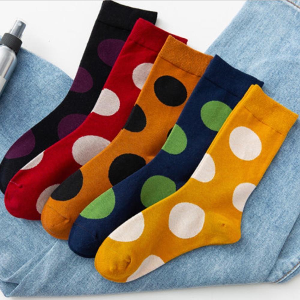 Happy Socks Women/'s Crew Socks-Big Dot