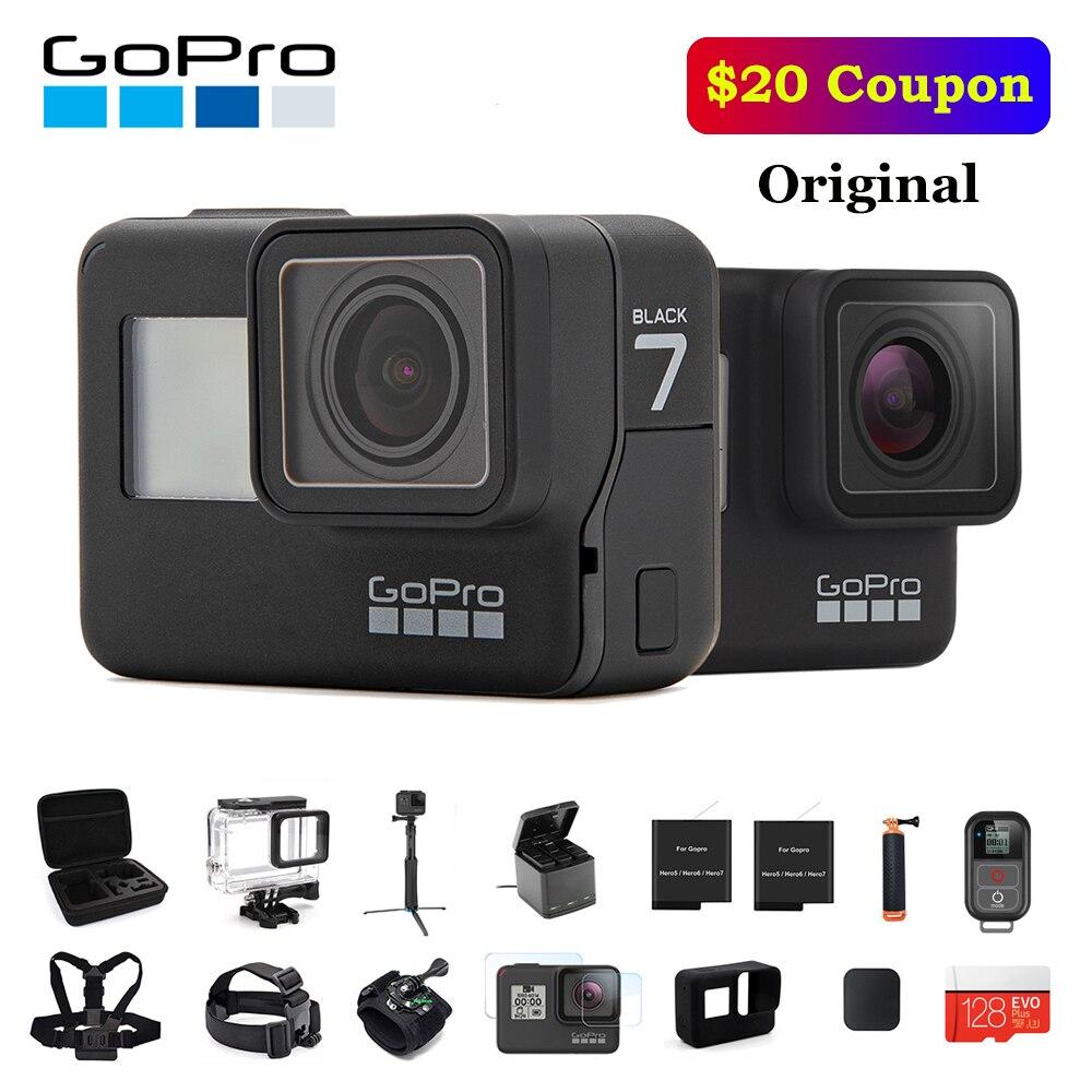 Original GoPro Action Camera HERO 7 Black 4K 60fps 1080P 240fps video Go Pro Sport cam