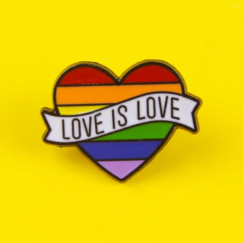 Love Yellow lovers lapel pin Brand new Heart shaped pin badge