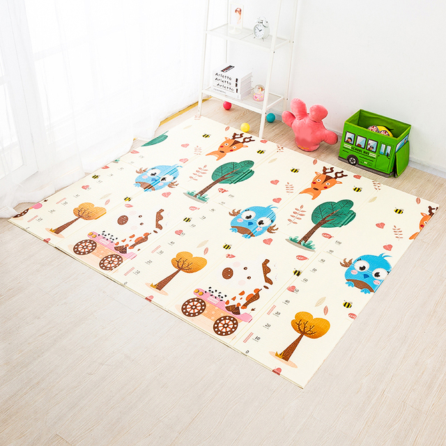 200*180cm Foldable Cartoon Baby Play Mat Xpe Puzzle Children's Mat Baby Climbing Pad Kids Rug Baby Games Mats Toys For Childern