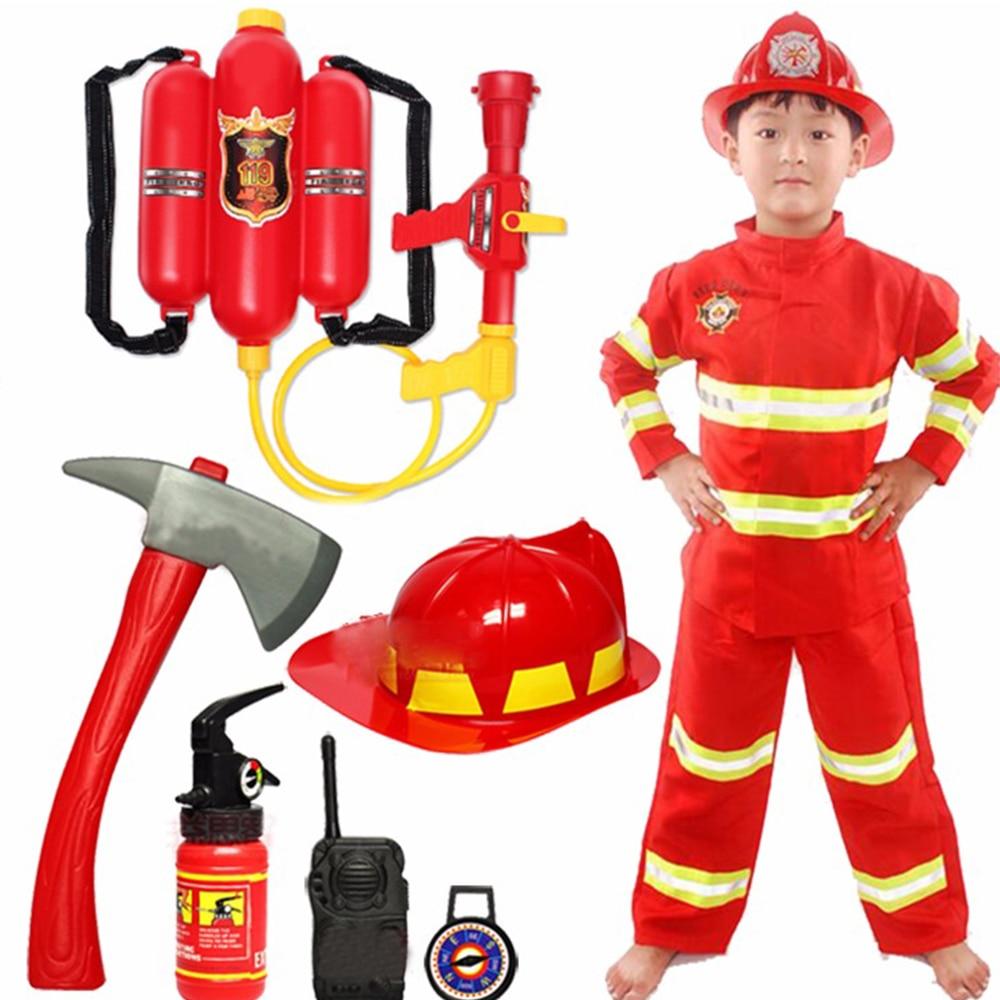 Костюм на Хэллоуин для детей, униформа пожарного, детский Сэм, косплей, пожарный, ролевая игра, необычная Одежда для мальчиков, необывечерни...