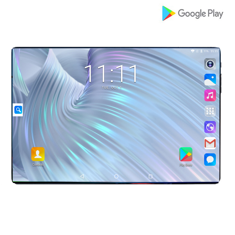 2020 New Design 10 Inch Tablets Android 9.0 OS 6GB + 128GB ROM Dual Camera 8MP SIM Tablet PC Wifi GPS 4G Lte Mobile Phone Pad