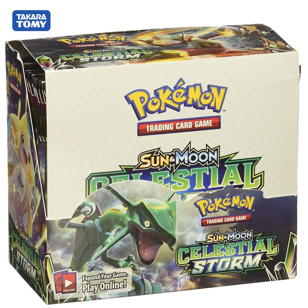 324 Cards Pokemon TCG: Sun & Moon Celestial Storm 36-Pack Booster Box Trading Card Game Kids Collection Toys