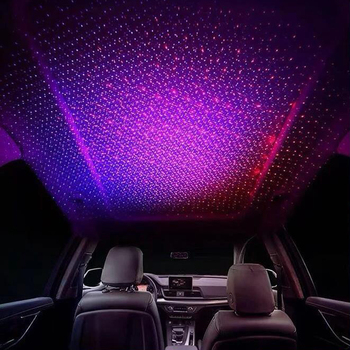 Car ceiling music sensor control strobe gypsophila Star ceiling mini red blue Two-color transformation led light