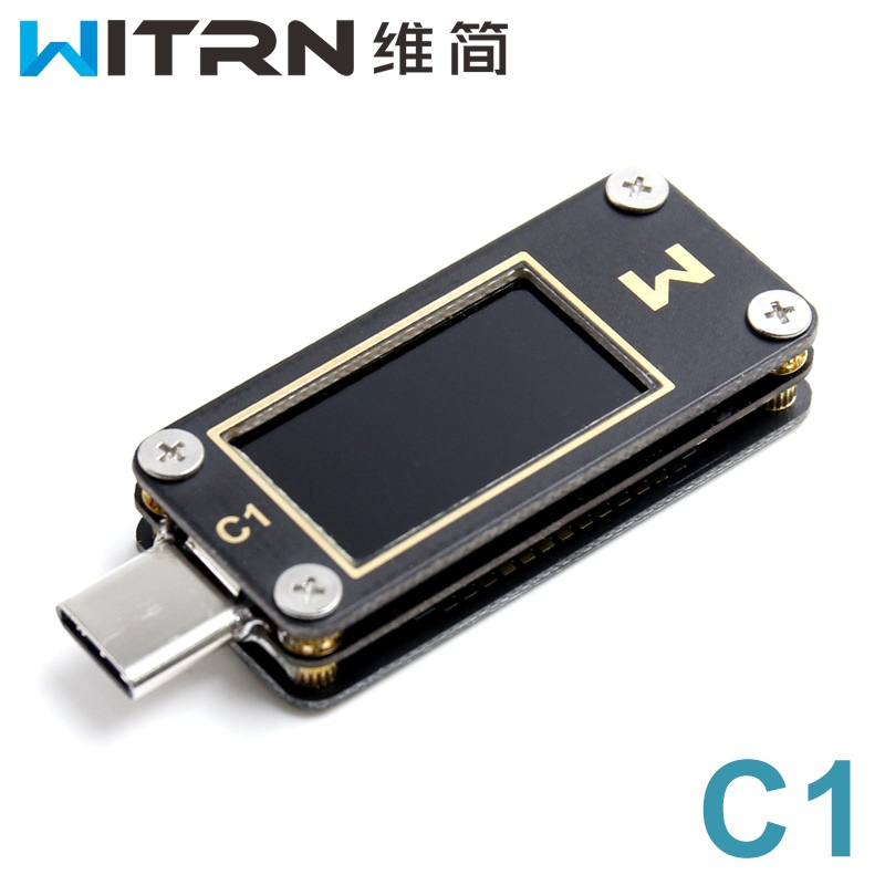 WITRN-C1 Current And Voltage Meter USB Tester PPS PD Pass-through Meter Fast Charge Protocol Test CC Table