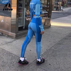 Image 3 - FDBRO Yoga Set Fall Winter Tracksuit High Waist Leggings Sets Sport Suit Women Active Wear Fitness Clothing 2 Piece Set Women