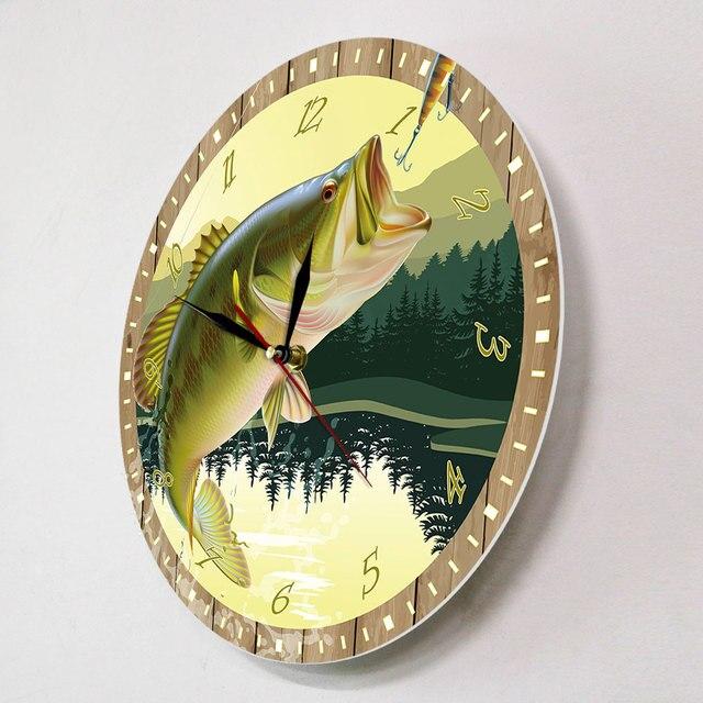 Trout Fisherman Wall Clock 10