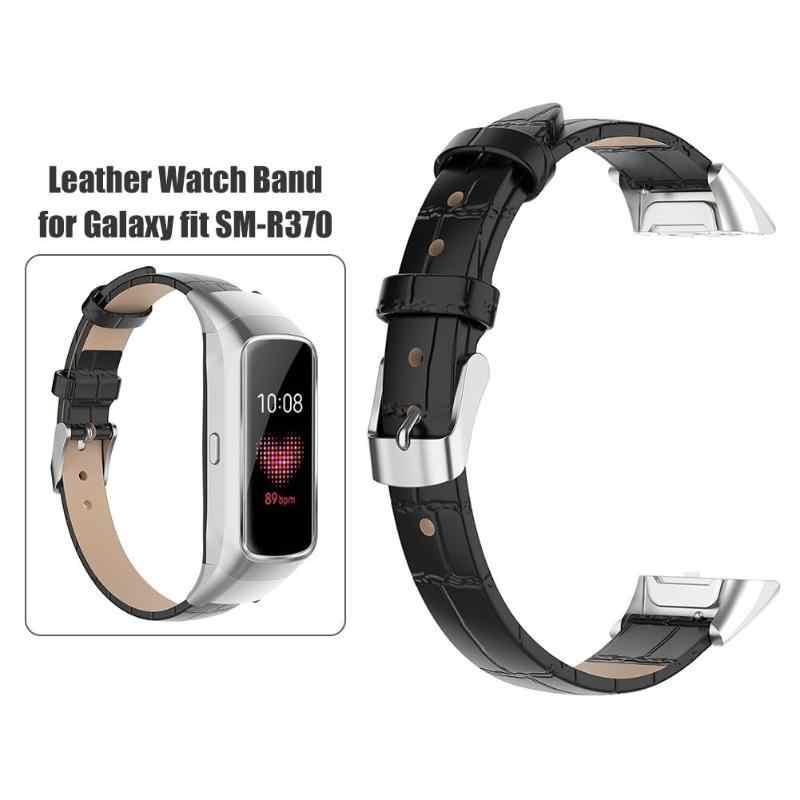 Регулируемый бамбуковый кожаный браслет ремешок регулируемый удобный классический модный для samsung Galaxy Fit SM-R370