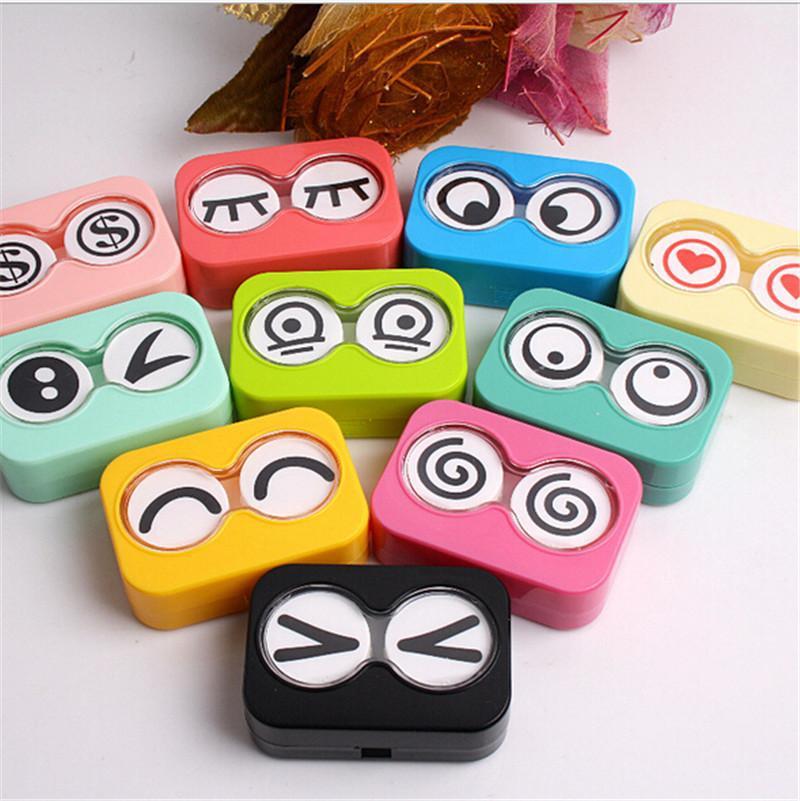 Colorful Mini Storage Contact Lens Box Container Holder Case Tweezers Set Eye Care Random colors