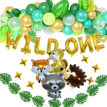 Baby Shower Animal Ballons Jungle Party Safari Party Baloon Birthday Party Decor Kids Jungle  Balloons Aluminium Foil Balloons jungle party green latex balloons woodland animal palm leaf foil balloons safari party baloons birthday party decor baby shower