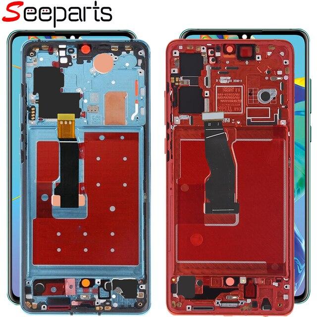 מקורי עבור Huawei P30 Pro LCD מסך מגע Digitizer עצרת Huawei P30 LCD תצוגת Huawei P30 פרו תצוגת VOG L29 ELE L29