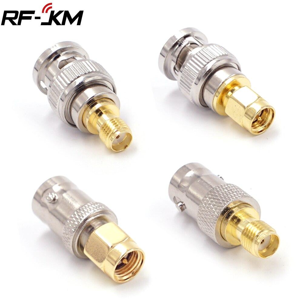 2 pces sma para bnc conector de antena sma macho fêmea para bnc fêmea macho rf adaptador coaxial