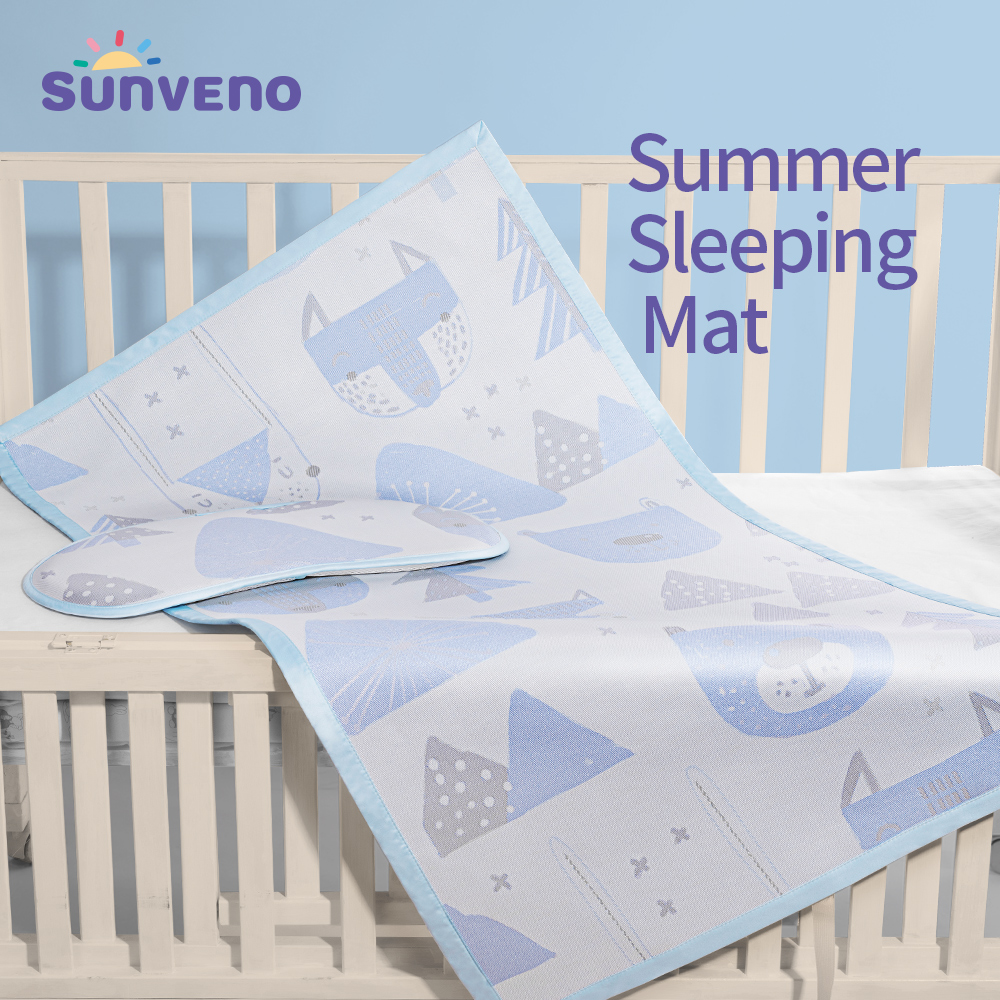 Sunveno Breathable Baby Bed Sheet , Ice Silk Fiber Bedding Pad , For Summer/hot 74x35cm