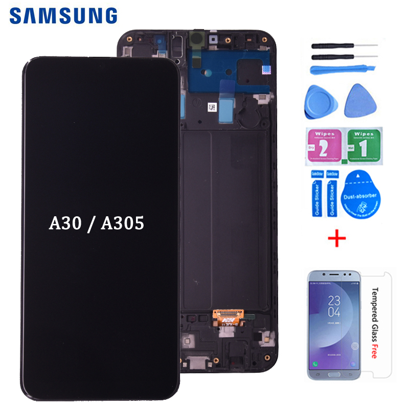 For SAMSUNG GALAXY A30 LCD Display A305DS A305FN A305G A305GN A305YN with Touch Screen Digitizer Assembly free shipping