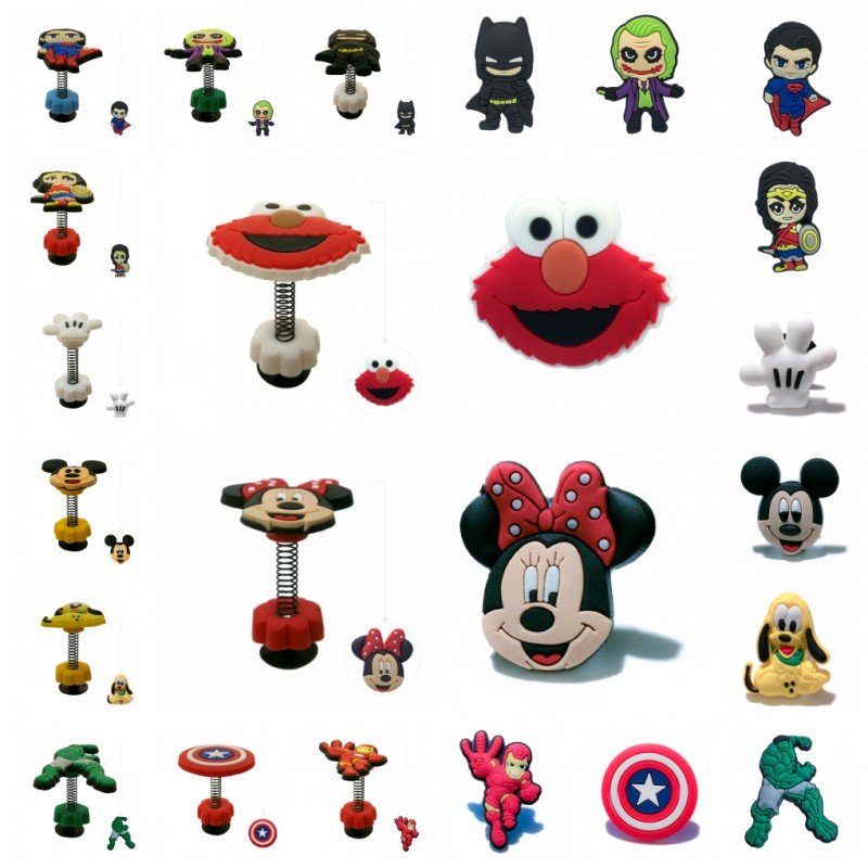 1pc Sesame Street Spring/Standing Shoe Charms Shoes Accessories Mickey Croc Charms Super Heroes Accessories Jibz Gifts For Kids