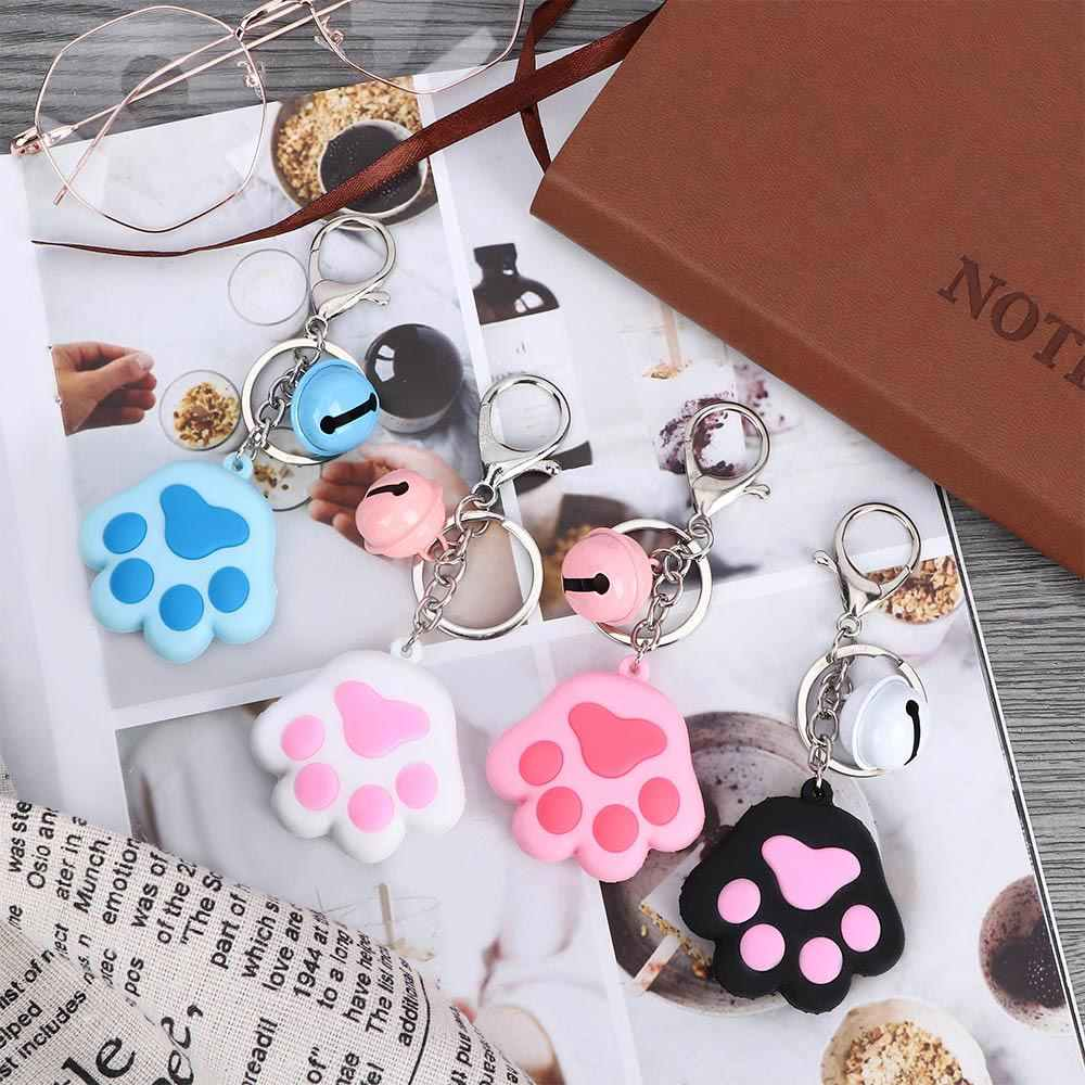 1Pcs Keychain Creative Cute Dog Cat Paw 3D Cartoon Animal Soft Silicone Car Accessories Handbag Decor Jewelry Gift Key Ring