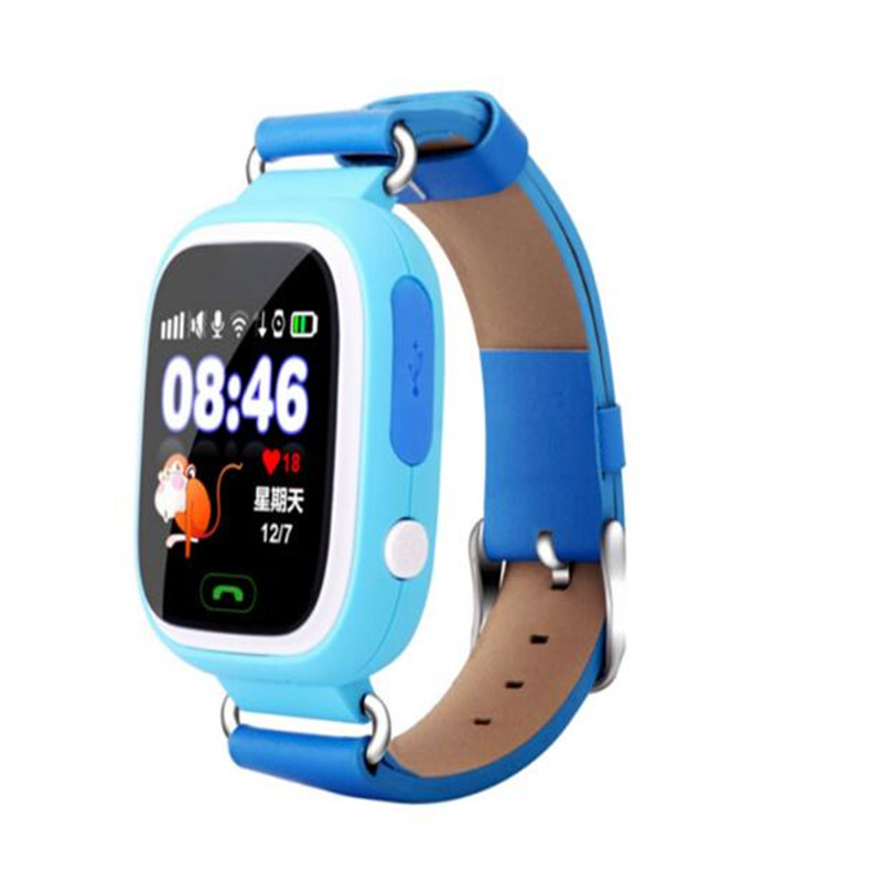 Cross Border Q90 Children's Phone Watch Color Screen Touch Screen GPS Positioning WiFi Children's Smart Watch Mobile Phone