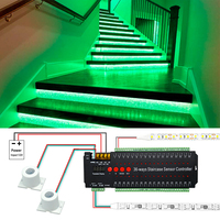 WS2811 Led Streifen Lichter 6-36 Kanal Menschliches Infrarot Touch Multi-Funktion Induktion Controller Tür Schritt Treppe Lampe lauf