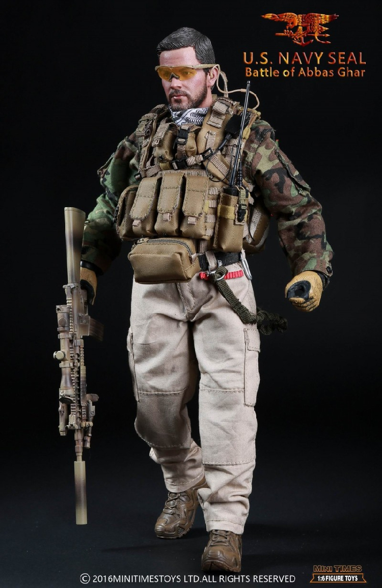 Mini Times US Navy Seal Bataille d/'Abbas Ghar 2 Drapeau Emblème Lot 1//6 Toys Dam