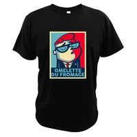 Laboratoire Dexter t-shirts parodie dessin animé Shepard Fairey artiste 100% coton T-Shirt Omelette Du Fromage t-shirts