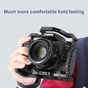 Image 4 - UURig DSLR Camera Cage for Canon EOS 70D 80D 90D Housing Case Cold Shoe 1/4 Arri Hole for Microphone LED Fill Light Extension