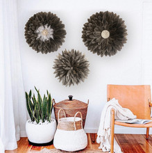 Feather Wall Hangings Tapestry Sunflower Shape Bohemia Porch Living Room Sofa Background Home Stay Decoration