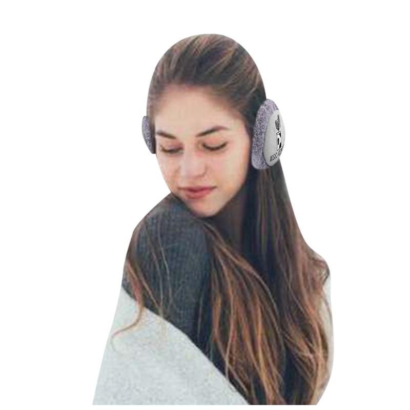 Women Foldable Winter Earmuffs Winter Kawaii Hamburger Ear Warmer Plush Headgear Outdoor Foldable Ear Cover Warm Earphones