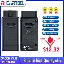 Opcom v1.99 v.70 com pic18f458 ftdi ft232rq chip para opel carro scanner diagnóstico apoio carros 2021 opcom profissão 170823c