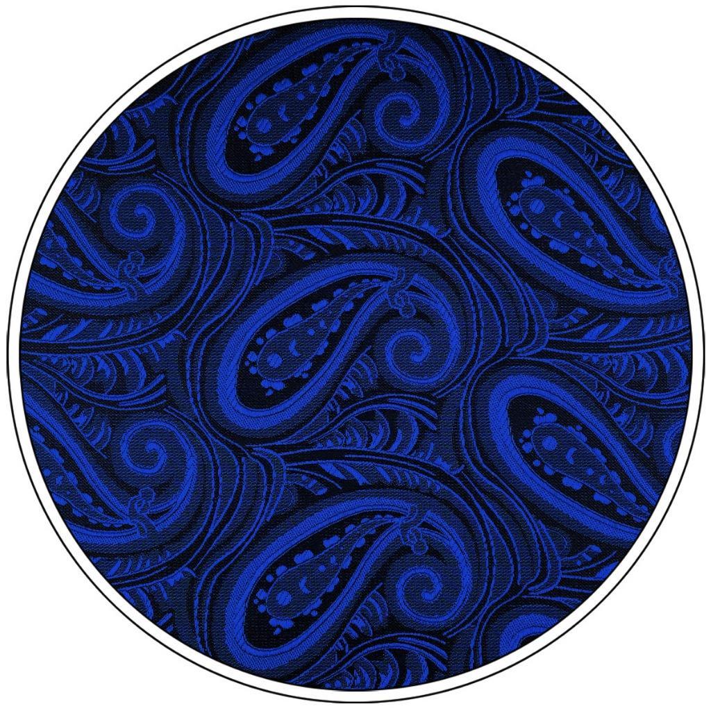 EH07 Mens Pocket Square Blue Paisley Fashion Handkerchief Classic Dress Hanky Groom