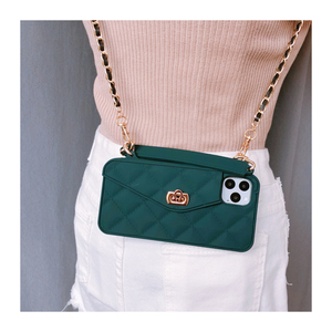 Image 2 - for iphone XS MAX 12 pro max Luxury Silicone card wallet Crossbody bag phone case for iphone 11 pro max Case X XR 6S 7 8 plus