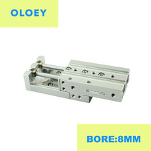 цена MXS8-10 Bore 8MM AS AT A BS BT B Double Acting cylinder adjuster pneumatic  air slide table MXS8-30 MXS8-50 MXS8-75 онлайн в 2017 году