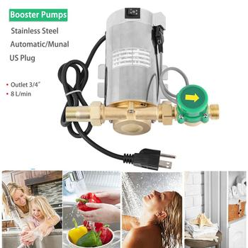 Honhill 110V Automatic Water Booster Pump Electric Pressure  Pump Increase Water Flow for Home Shower Washing Machine Ship US frequency conversion water pressure booster pump for home shower stainless steel mute fully automatic 220v self priming pump