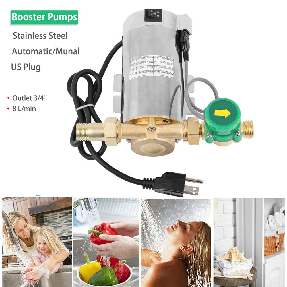 Honhill <font><b>110V</b></font> Automatic <font><b>Water</b></font> Booster <font><b>Pump</b></font> Electric Pressure <font><b>Pump</b></font> Increase <font><b>Water</b></font> Flow for Home Shower Washing Machine Ship US image