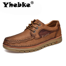 Yhebke Brand New Men'S Autumn Leather Shoes Cowhide Soft Ven