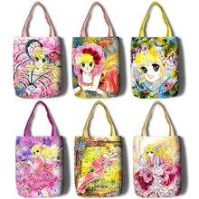 Дамская мультяшная вместительная сумка, сумка шоппер через плечо, женская сумка для покупок, модная сумка шоппер для отдыха