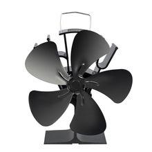 5 Blades Heat Powered Stove Fireplace Eco Friendly Fan Fuel Saving Wood Burner Stove Fan