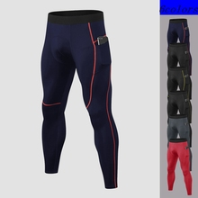 Compression-Pants Tights Sports-Leggings Training Fitness Gym Pocket Men New-Quality