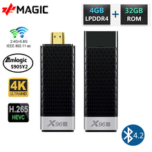 X96S TV 스틱 미니 PC TV 박스 안드로이드 9.0 Amlogic S905Y2 4 기가 바이트 RAM 32 기가 바이트 EMMC BT4.2 4K HD 5G 와이파이 PK X96 미니 스마트 TV 안드로이드 박스